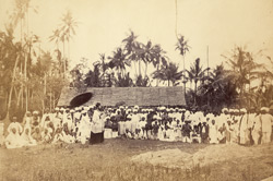The Rev. Habb preaching to the Klings (South Indians) in Pinang.